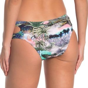 Bikini Lab Jungle Palm Tree Cut Out Bottoms Medium
